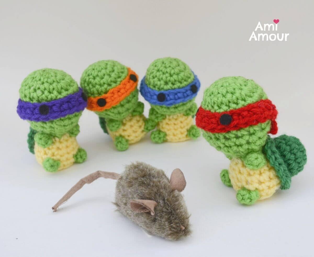 Baby Turtles with Master Splinter