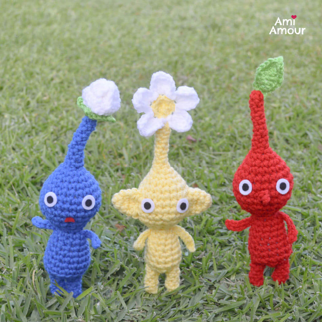 Pikmin with Leaf, Bud, and Flower
