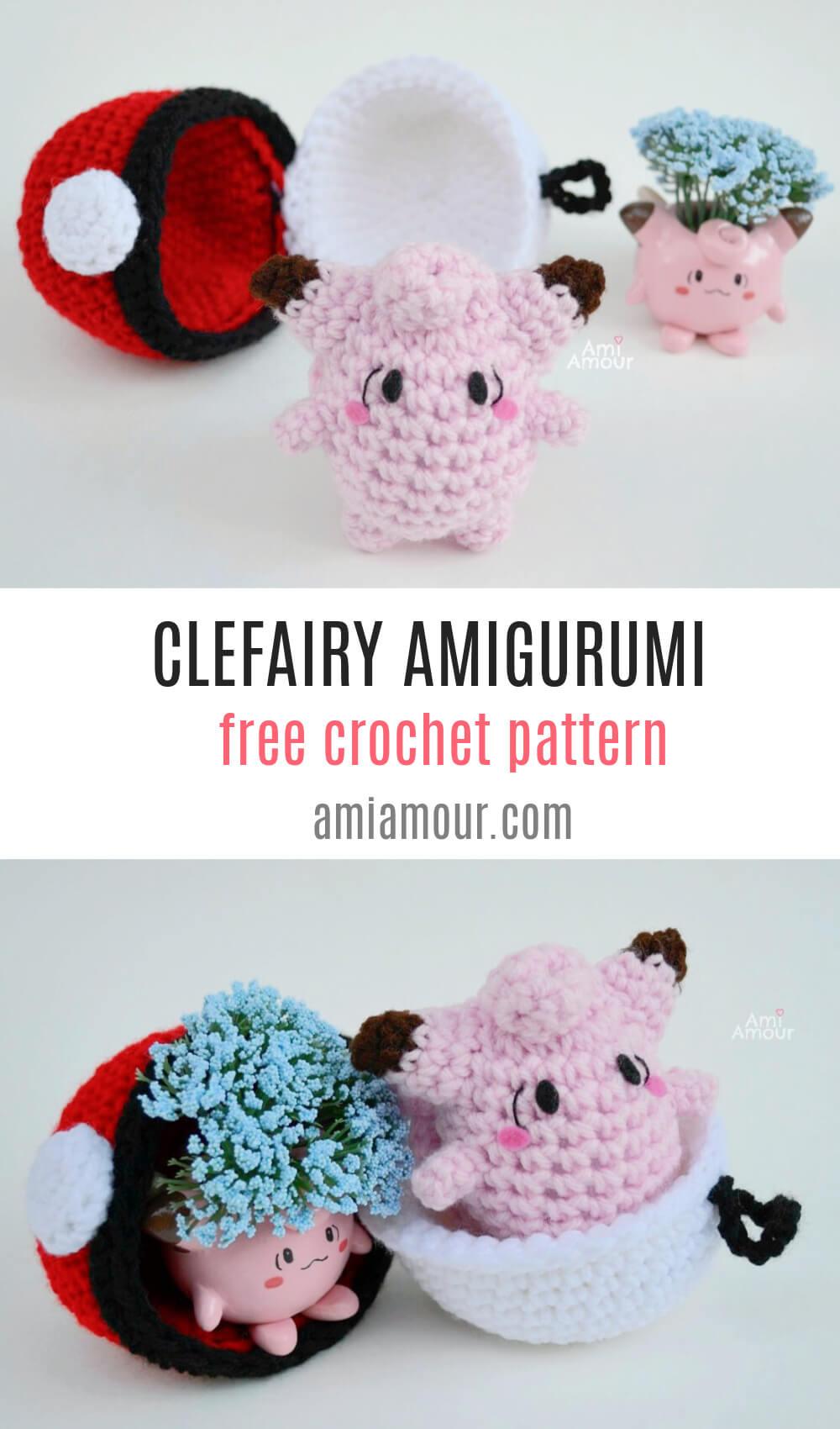 Clefairy - Free Crochet Pattern
