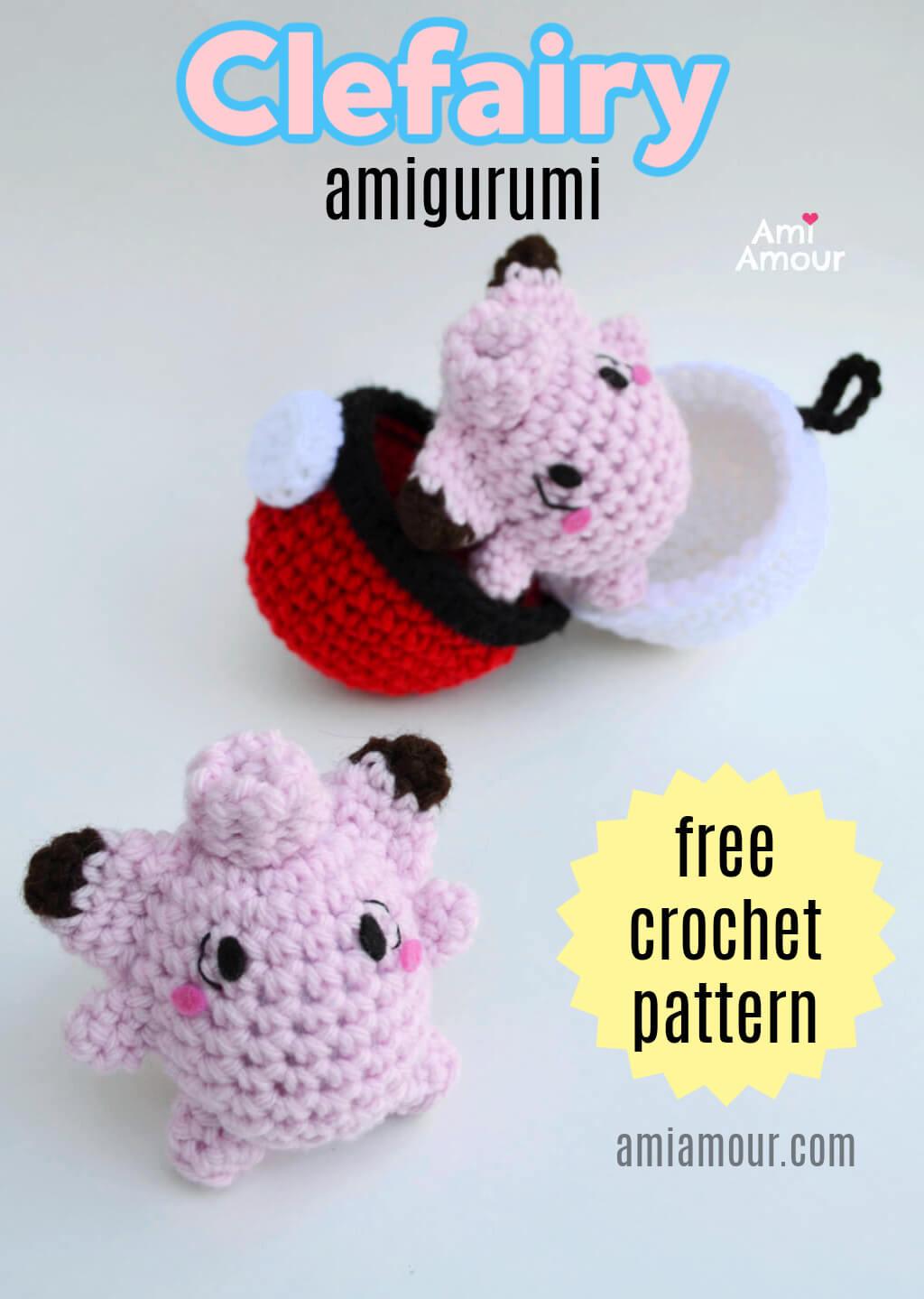 Clefairy - Free Pokemon Crochet Pattern