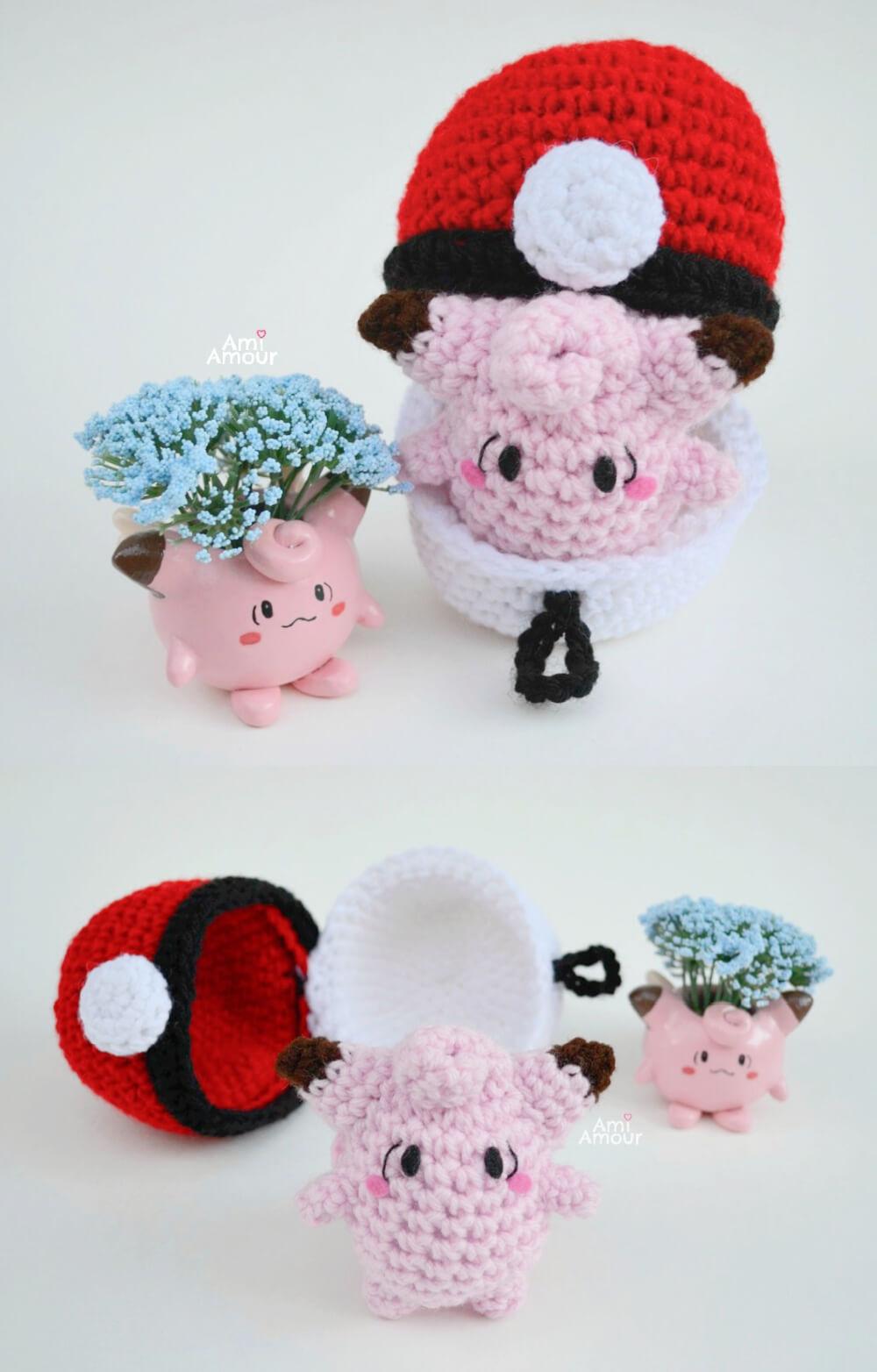 Crochet Clefairy Pattern