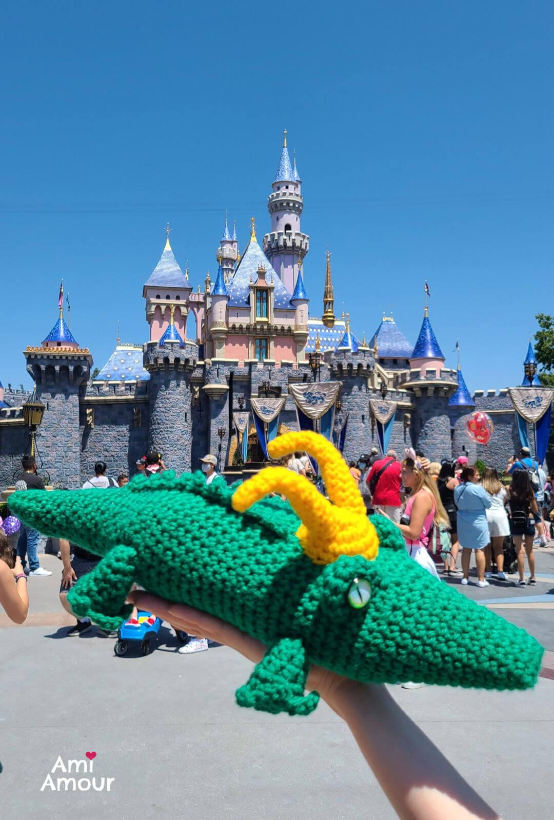 Alligator Loki at Disneyland Castle