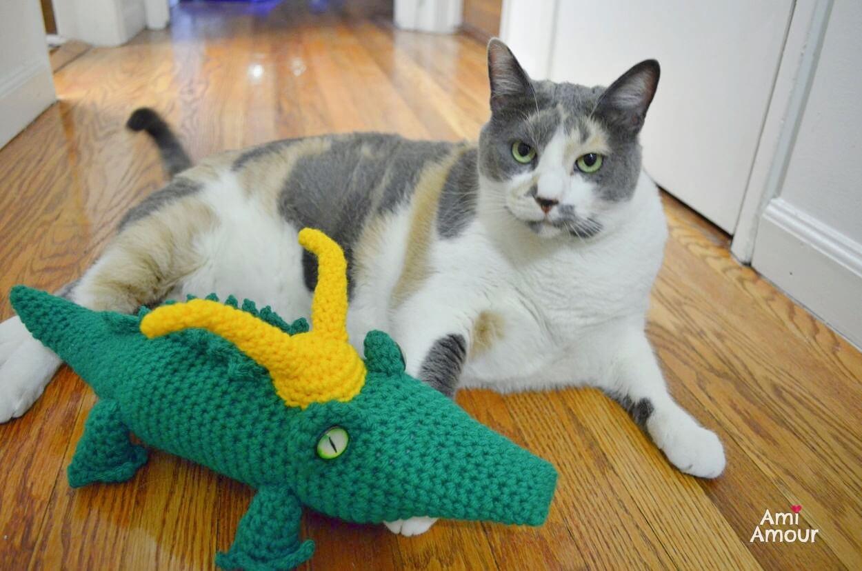 Alligator Loki Moments before the Lexus Nexus event with Cat