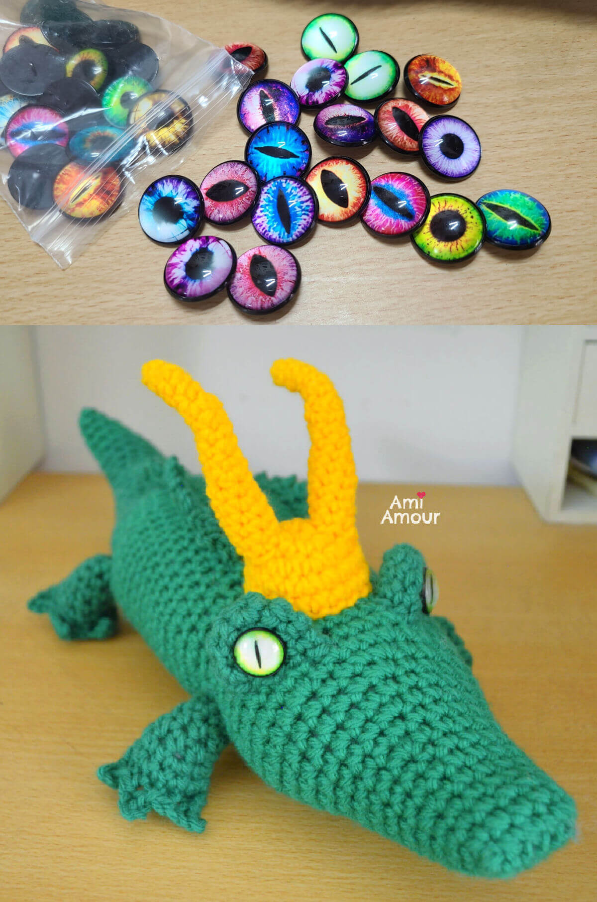 Glass Dragon Eyes for Loki Alligator